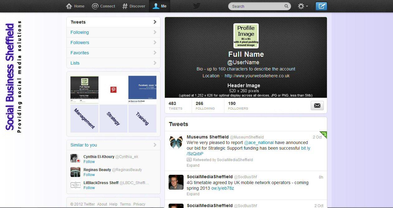 Twitter Header Setup