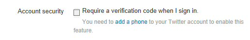 Required a verification code when I sign in