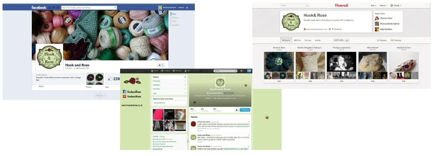 Hook & Rose Social Media Branding